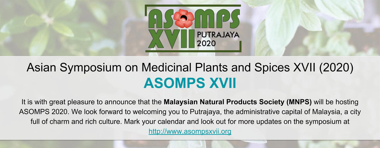 17th Asian Symposium on Medicinal Plants and Spices (ASOMPS XVII)